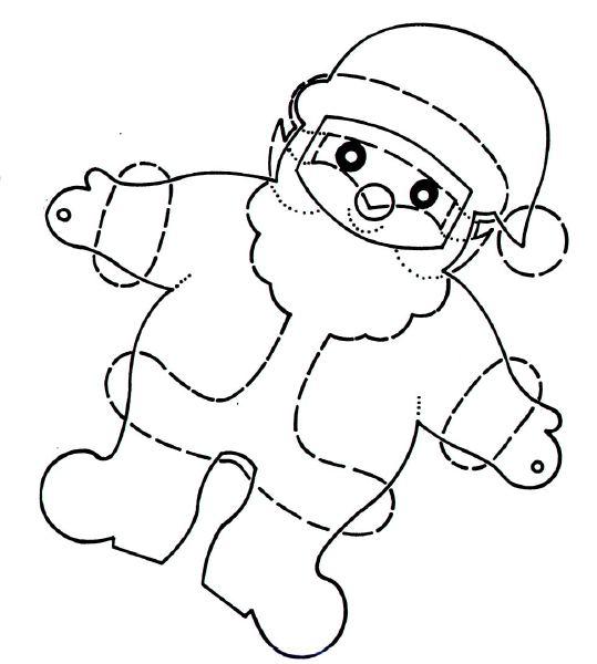 Шаблоны Деда Мороза - фото 7