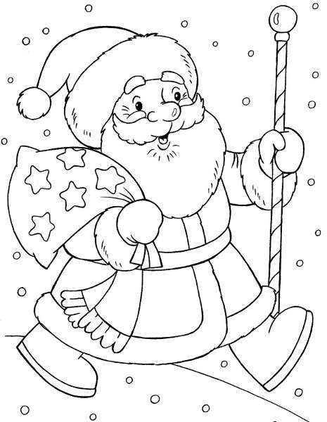 Шаблоны Деда Мороза - фото 9