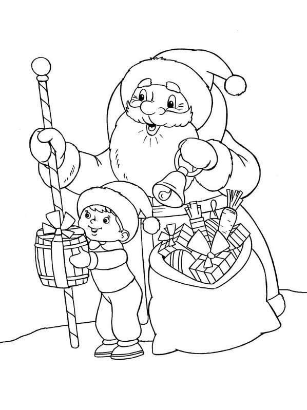 Шаблоны Деда Мороза - фото 10
