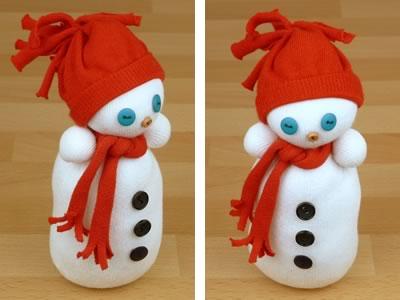 Снеговик из носков - фото 12