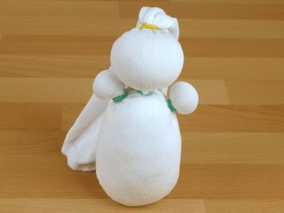Снеговик из носков - фото 5