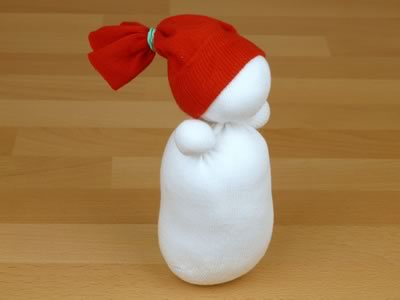 Снеговик из носков - фото 7