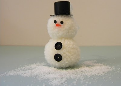 Снеговик из помпонов - фото 10
