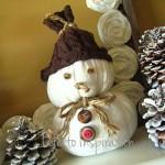 Снеговик из ткани