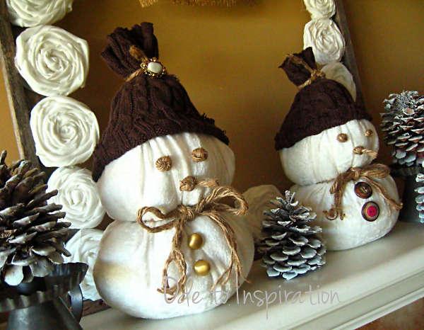 Снеговик из ткани - фото 10