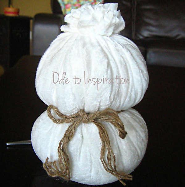 Снеговик из ткани - фото 6