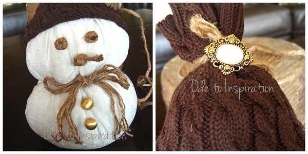 Снеговик из ткани - фото 9
