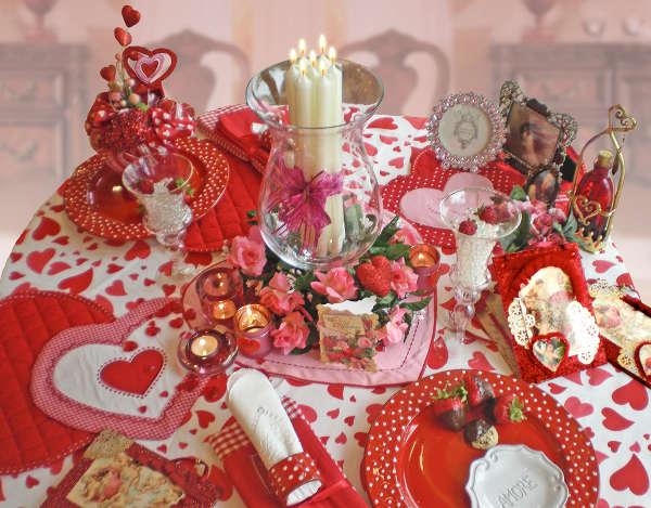 Стол на день святого Валентина - фото 2