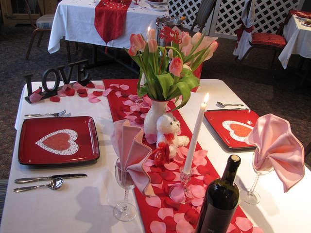 Стол на день святого Валентина - фото 4