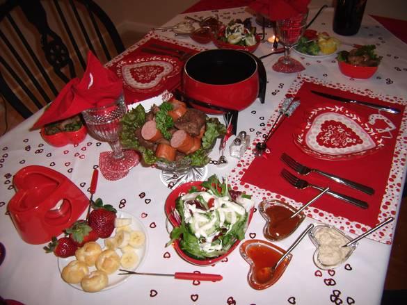 Стол на день святого Валентина - фото 9