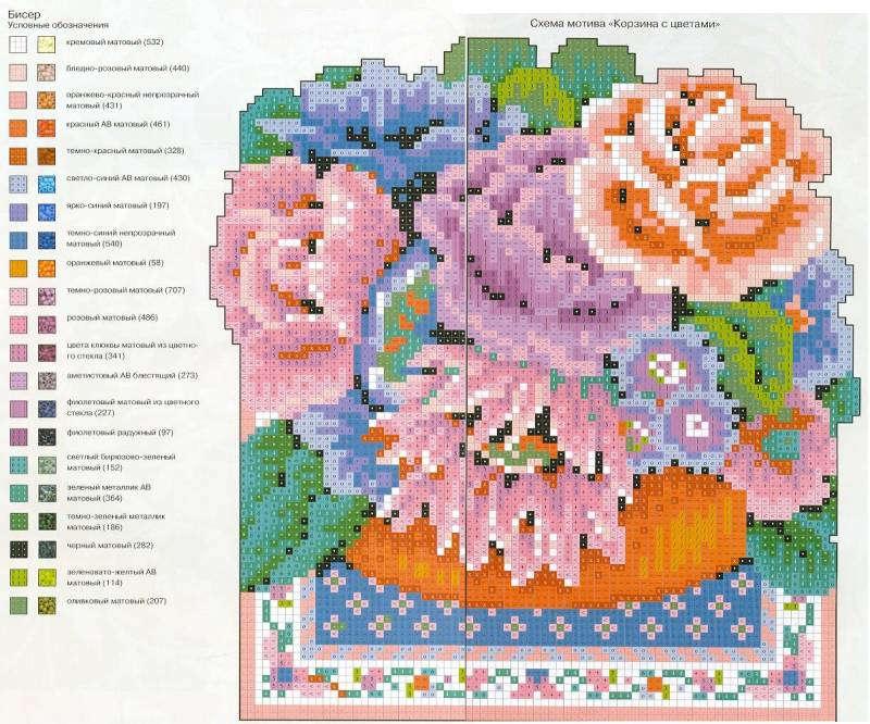 Схемы вышивки бисером - фото 21