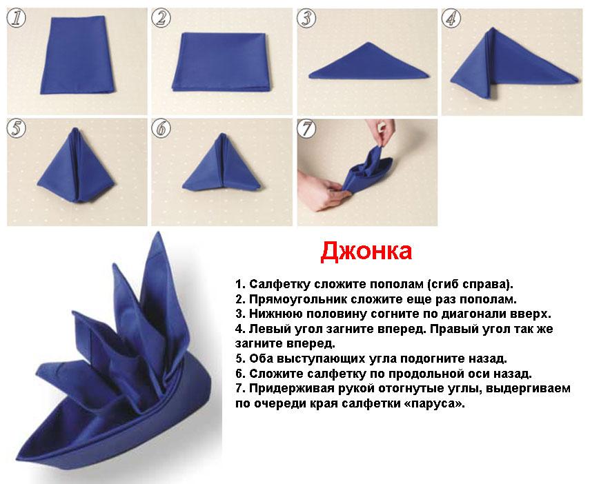 Как красиво сложить салфетки - фото 15