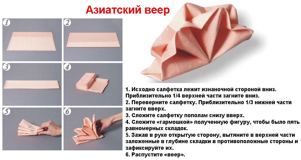 Как красиво сложить салфетки - фото 9