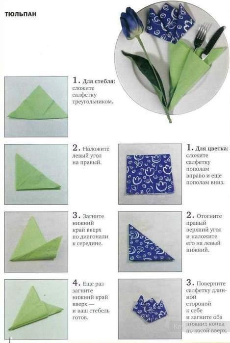 Как красиво сложить салфетки - фото 3