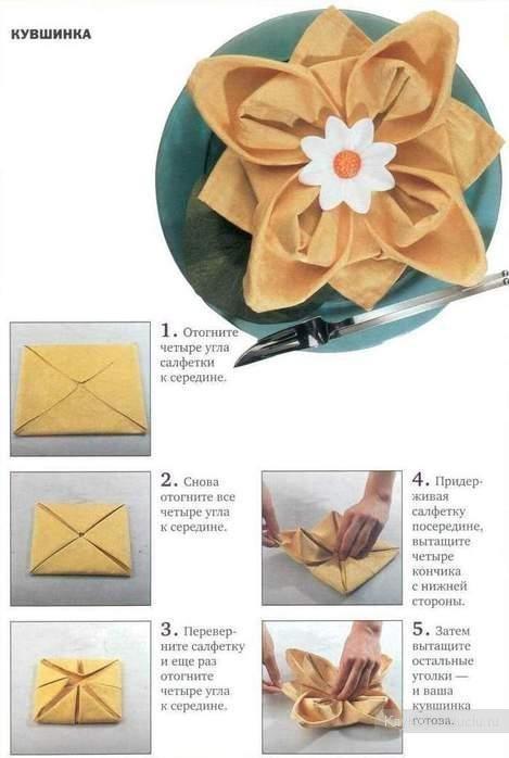 Как красиво сложить салфетки - фото 4