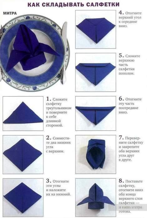 Как красиво сложить салфетки - фото 6