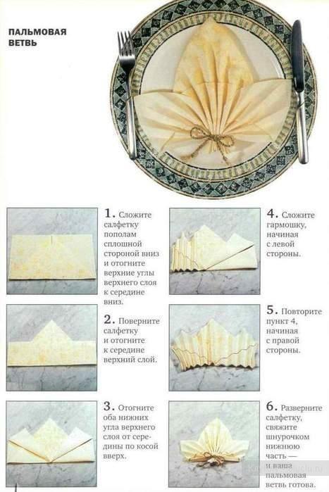 Как красиво сложить салфетки - фото 1