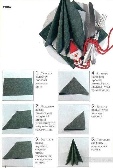 Как красиво сложить салфетки - фото 2