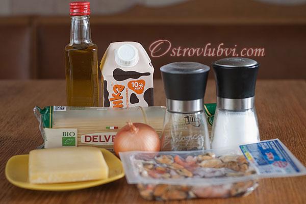 Спагетти с морепродуктами - Ингредиенты
