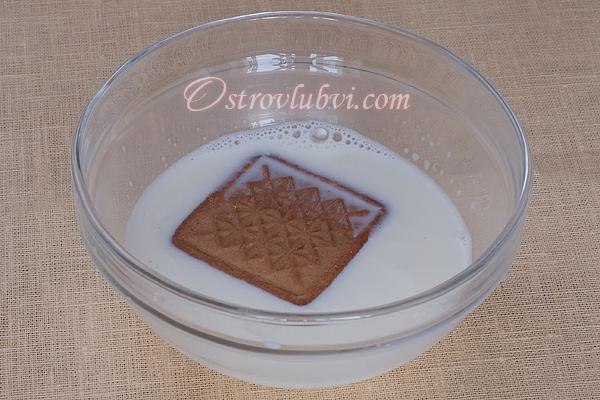 Торт из печенья и творога 3