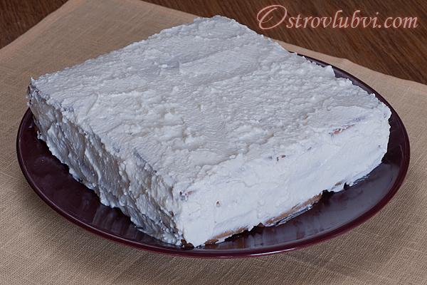 Торт из печенья и творога 6
