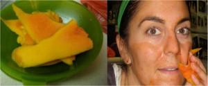 Маска для лица из папайи