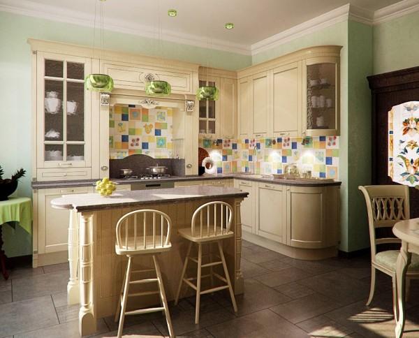 Чистая светлая кухня
