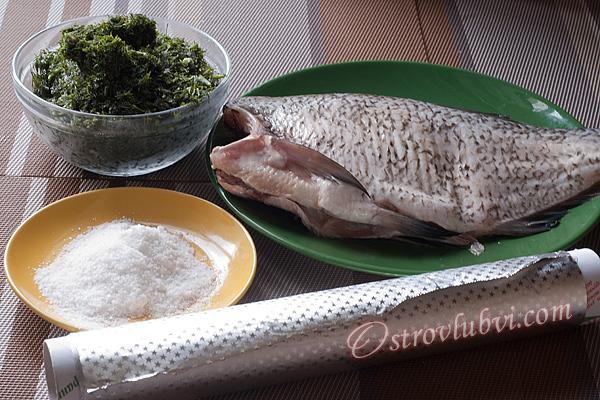Запеченная рыба - Ингредиенты