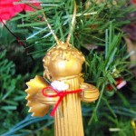 Новогодние игрушки из макарон - фото 2