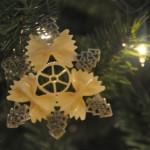 Новогодние игрушки из макарон - фото 11