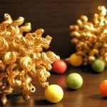 Новогодние игрушки из макарон - фото 14