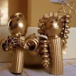 Новогодние игрушки из макарон - фото 4