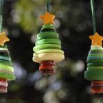 Новогодние игрушки из пуговиц - фото 2