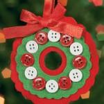 Новогодние игрушки из пуговиц - фото 15