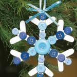 Новогодние игрушки из пуговиц - фото 16