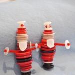 Новогодние игрушки из пуговиц - фото 4