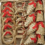 Новогодние игрушки из соломы - фото 16