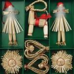 Новогодние игрушки из соломы - фото 18