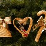 Новогодние игрушки из соломы - фото 2