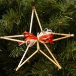 Новогодние игрушки из соломы - фото 4
