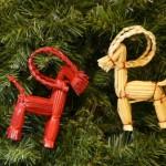 Новогодние игрушки из соломы - фото 3