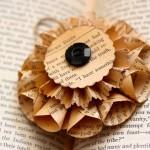 Новогодние игрушки со старых книг - фото 2