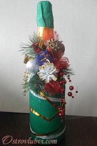 Новогодний декор бутылки шампанского - фото 10