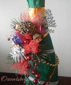 Новогодний декор бутылки шампанского - фото 11