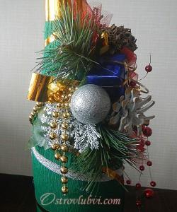 Новогодний декор бутылки шампанского - фото 12