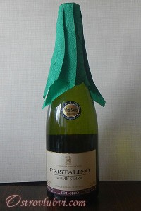 Новогодний декор бутылки шампанского - фото 4