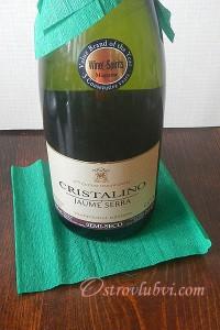 Новогодний декор бутылки шампанского - фото 6