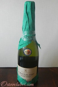 Новогодний декор бутылки шампанского - фото 7