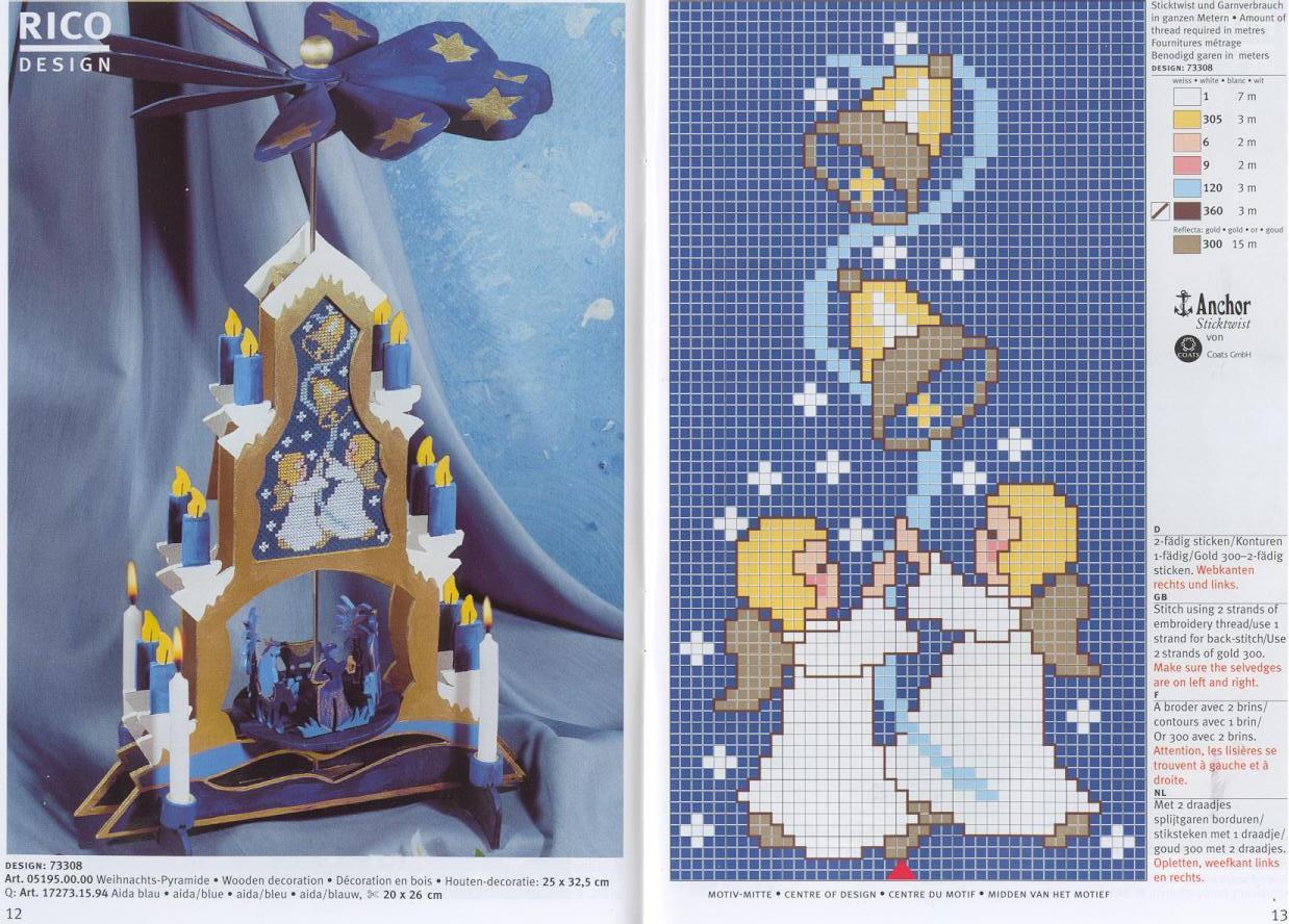 Рождественские схемы вышивки - фото 2