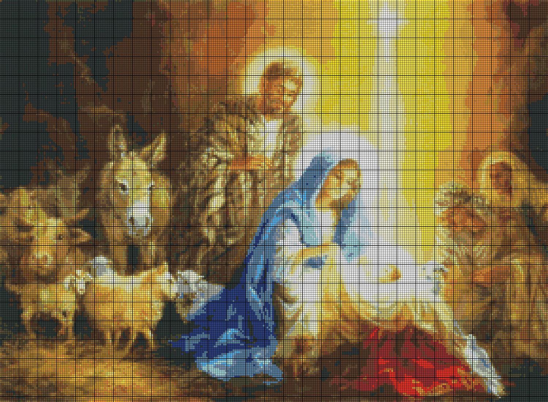 Рождественские схемы вышивки - фото 3